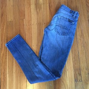 7 For All Mankind Roxanne Light Wash Jeans 24 EUC